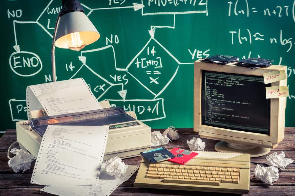 Programming work in computer lab