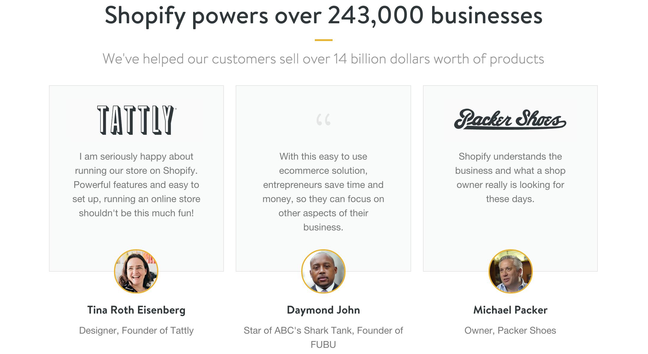 Shopify Testimonials