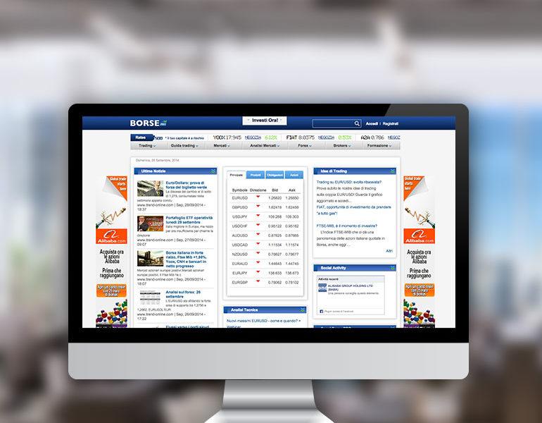 Borse Web Design and UX