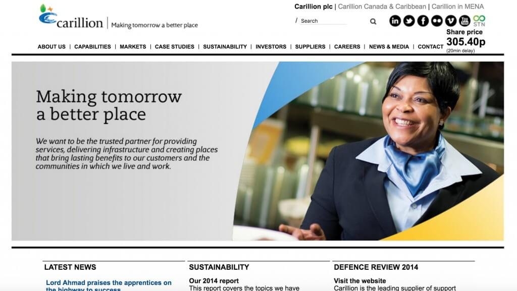 Carillion Website