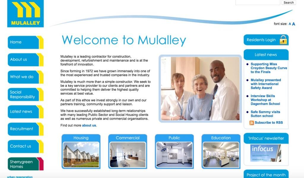 Mulalley Website